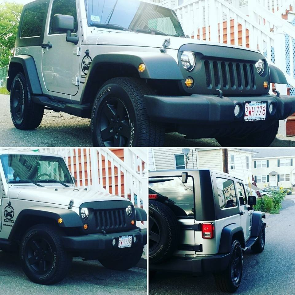 Used Silver Jeep Wrangler Rims And Rubber Tires Set For
